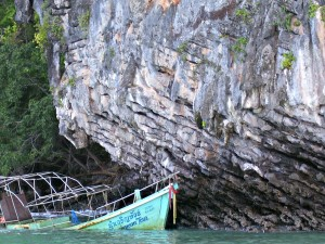 Another sunken boat in Tonsai Bay, Ko Phi Phi Thailand