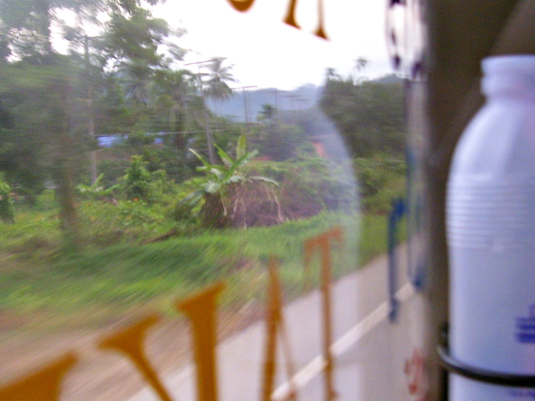 Travel to Myanmar: Southern Thailand zooming past my window