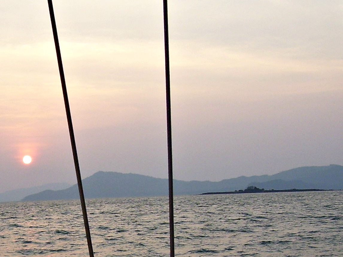 Koh Wai Noi in Phang Nga Bay as seen from Yana de Lys on one of our sailing trips