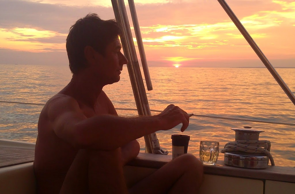 Sailing blogs - Langkawi to JB. Sunset happy hour.