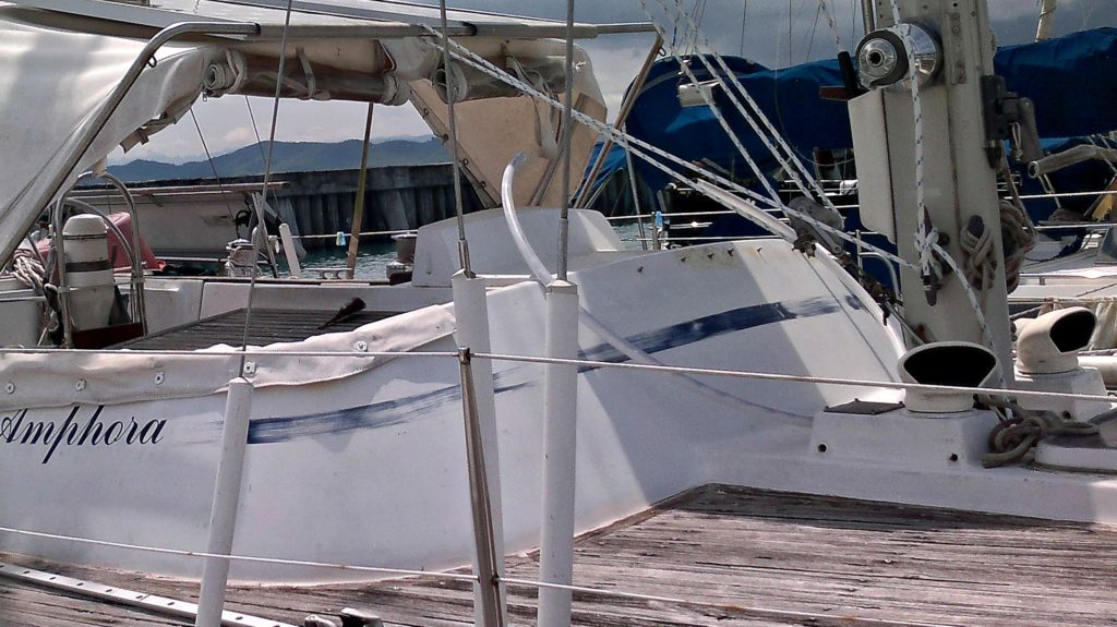 Sailing blog image of showing how much work she needed!