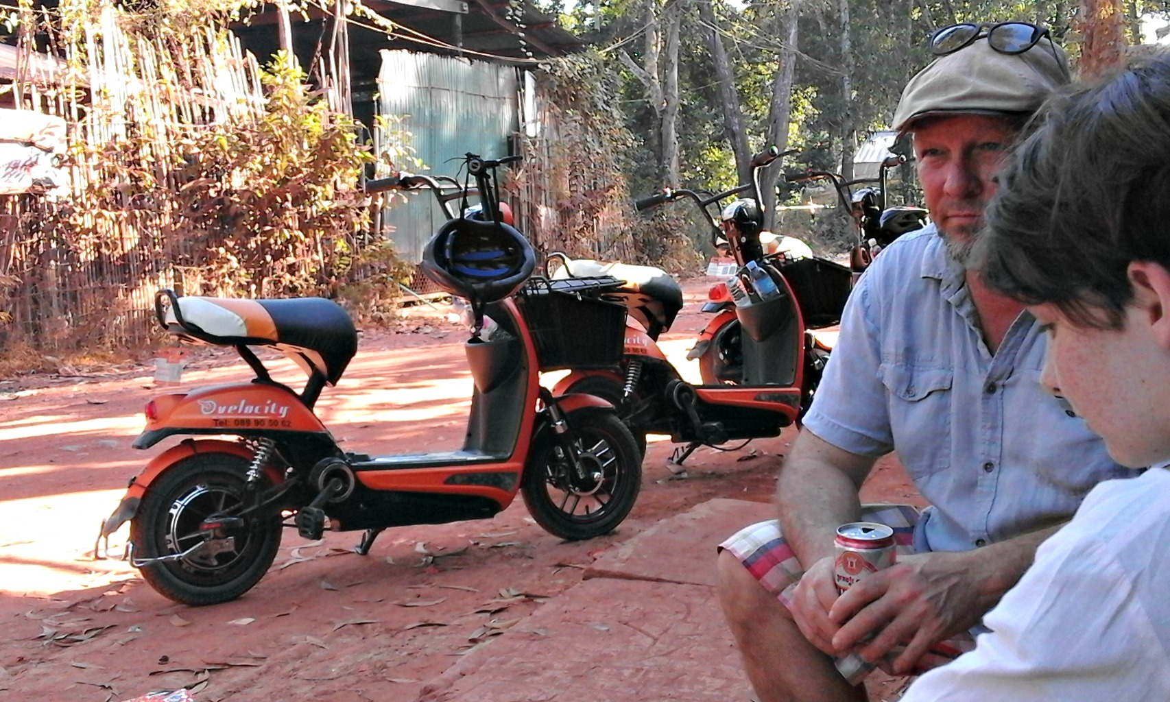 Holidays in Cambodia highlights: electric bike tour of the back street burbs of Siem Reap