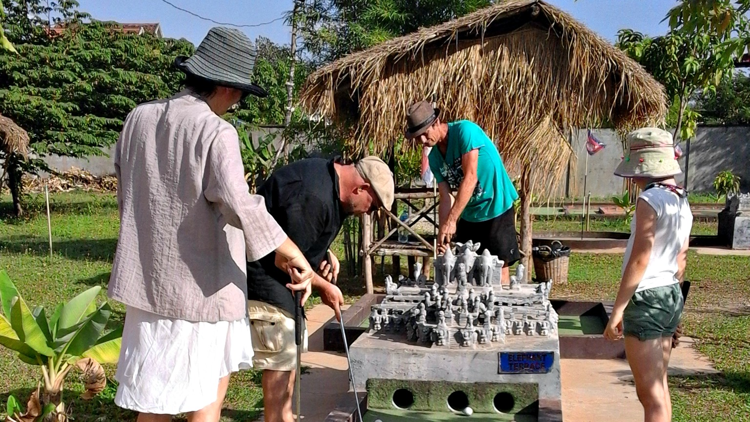 Holidays in Cambodia highlights: mini golf at Angkor Wat Putt