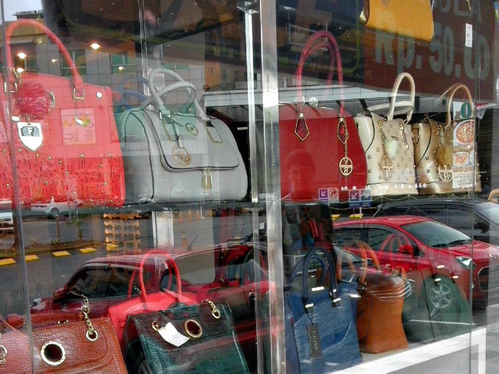 Designer handbags cost about $20 on Batam Island but you're encouraged to bargain