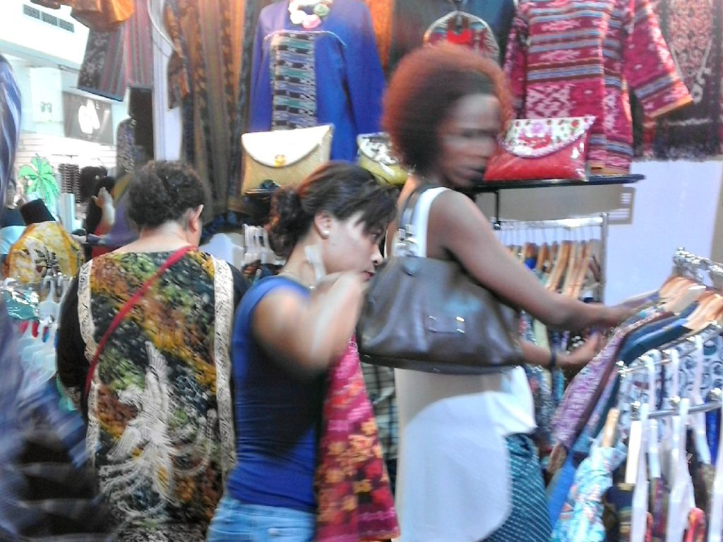 Shopping frenzy on Batam Island