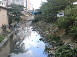 Stinky drains on Batam Island.