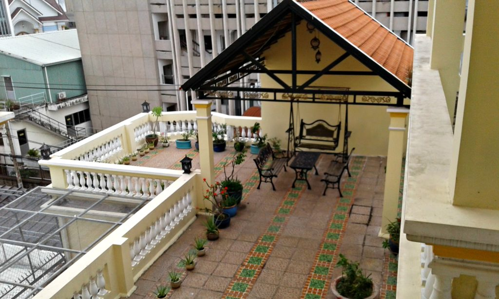 The splendid roof top garden at our borrowed apartment, Saigon Vietnam