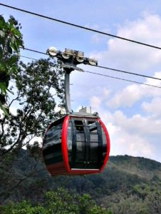 Small cable car, huge views at the Hat Yai Municipal Park