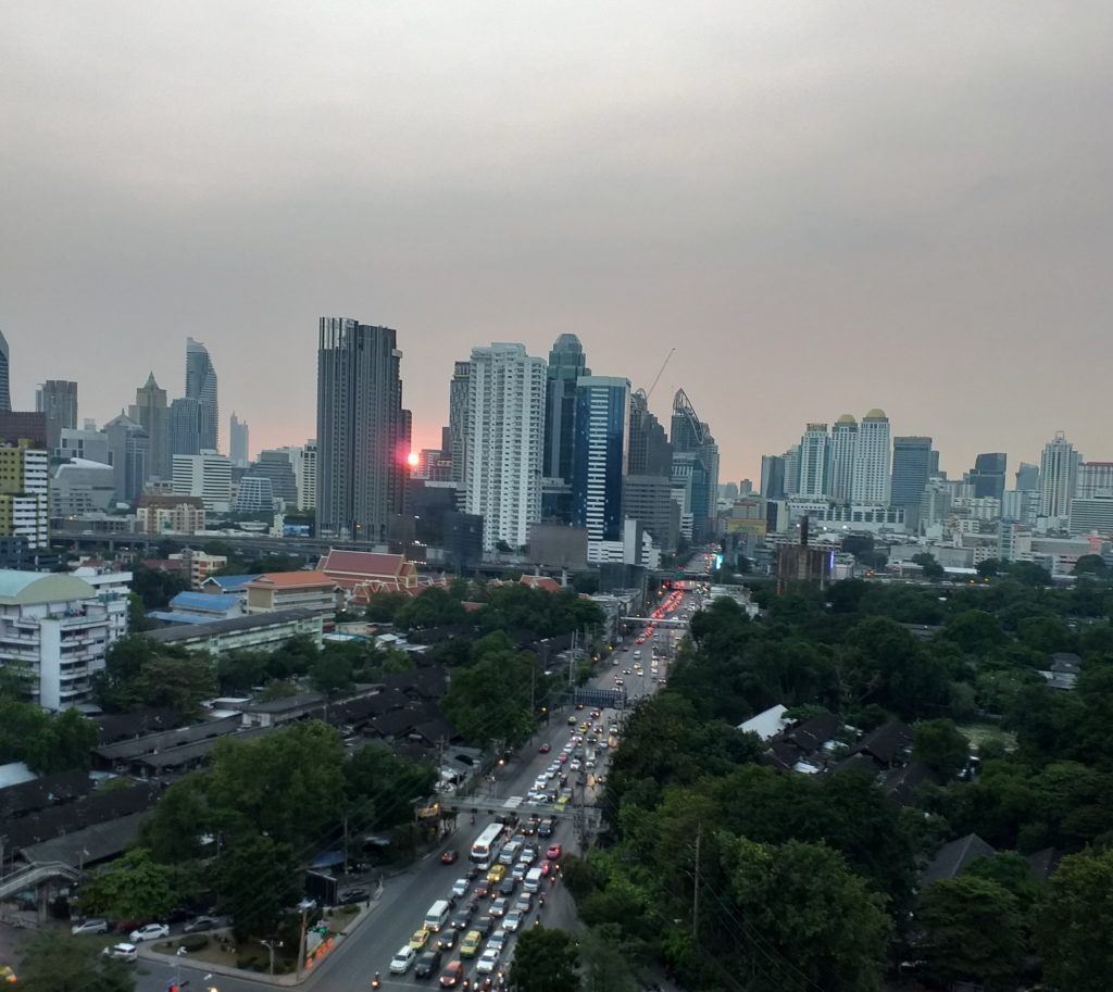Bangkok at sunset. How easy is it to get lost in this metropolis?